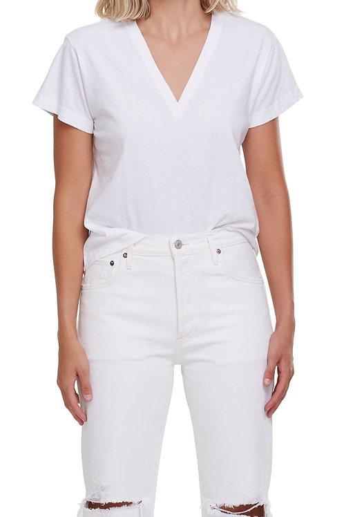 AGOLDE   Thea V Neck T-Shirt