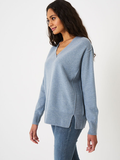 Repeat Cashmere | Oversized V Neck Cashmere Sweater