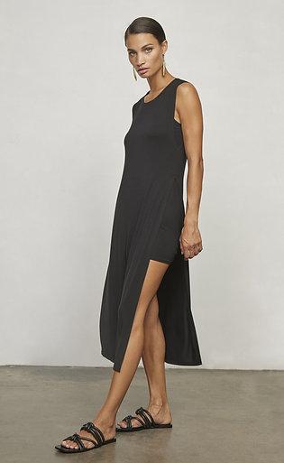 Krisa | Side Slit Layered Midi Dress