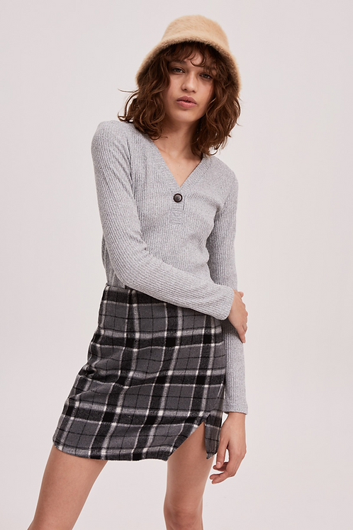 The Fifth Label | Treble Check Skirt