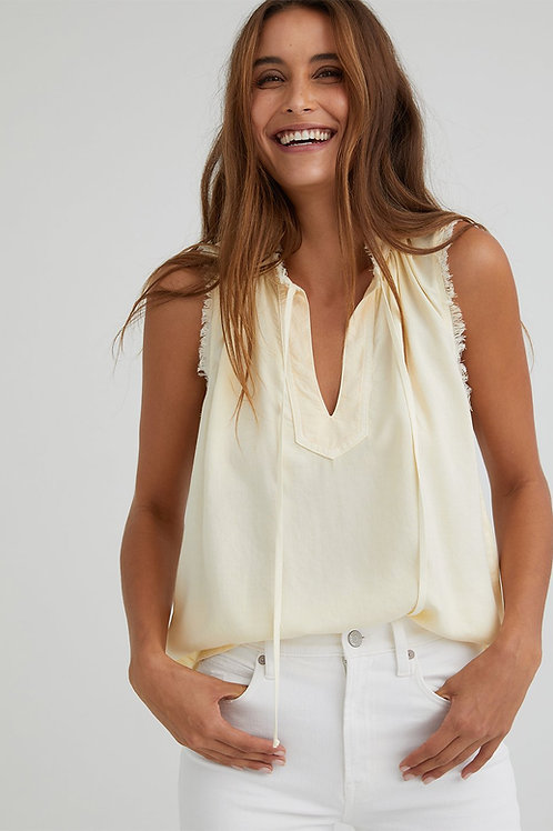 Bella Dahl | Sleeveless Fray Edge Pullover Top