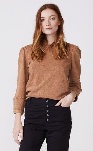 Monrow | Mineral Wash Puff Sleeve Sweatshirt