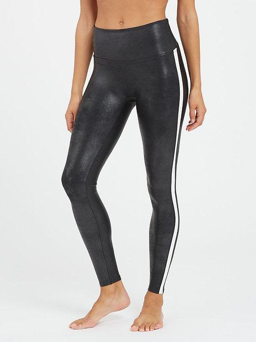 Spanx | Faux Leather Side Stripe Legging