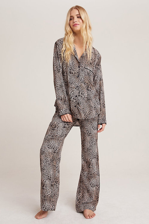 Bella Dahl | Sleep Shirt & Wide Leg Pant Set