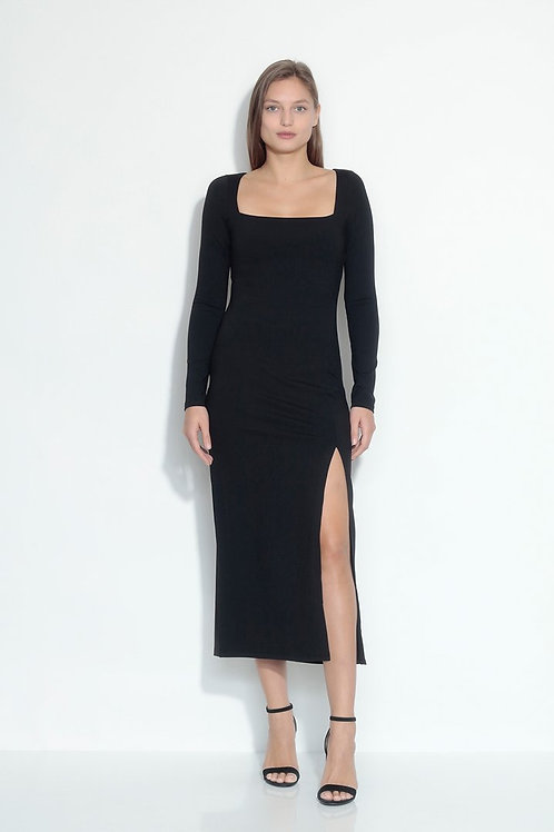Susana Monaco | Square Neck Slit Dress