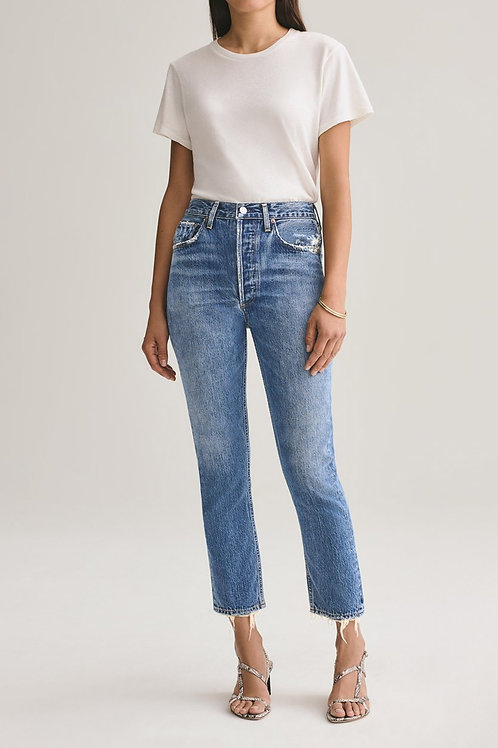 AGOLDE | Riley High Rise Straight Crop Jean