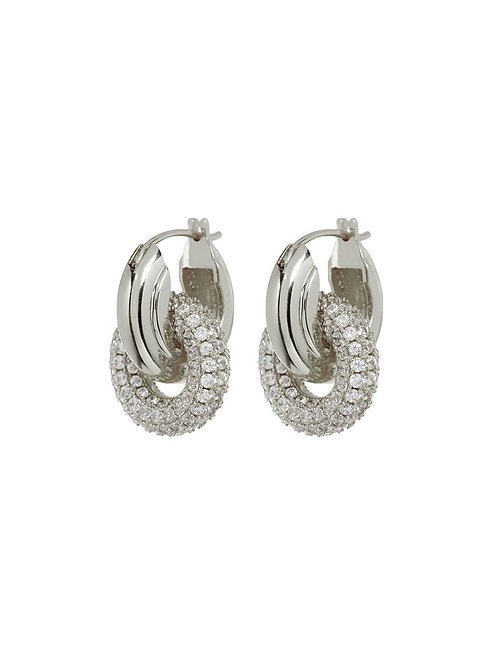 Luv AJ | Pave Interlock Hoops