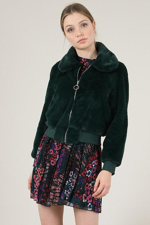 Molly Bracken   Zip Up Faux Fur Jacket