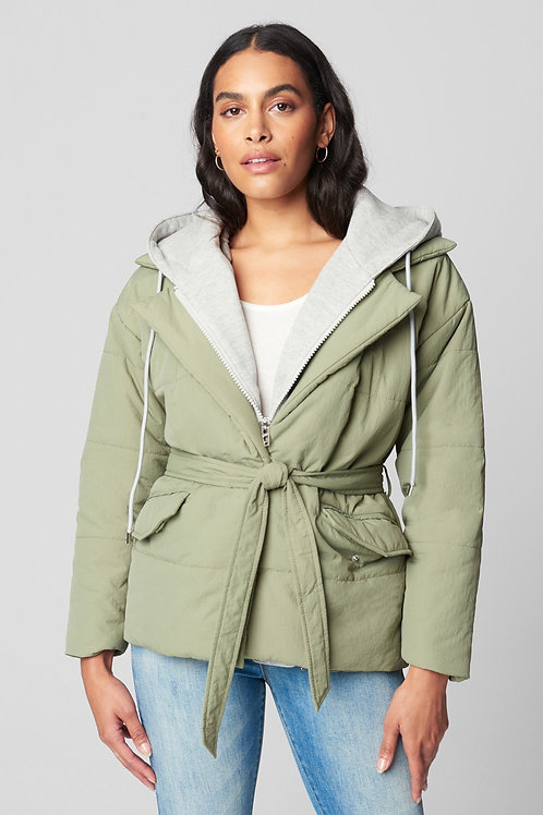 Blank NYC | Hooded Quilted Wrap Jacket
