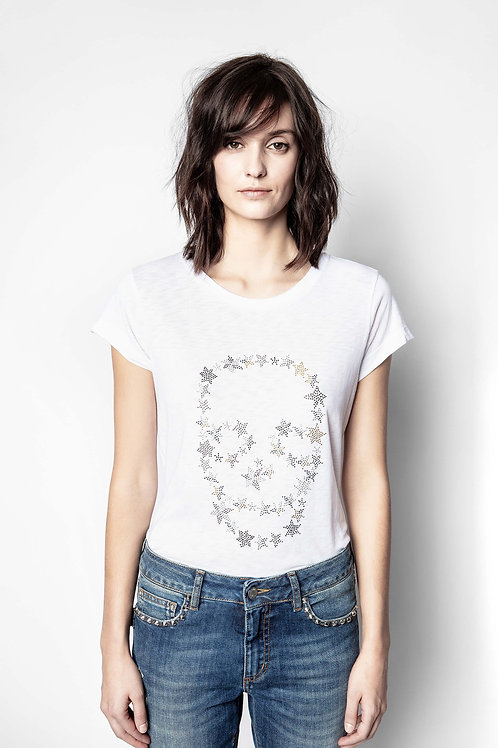 Zadig & Voltaire   Skinny Skull Strass T-Shirt