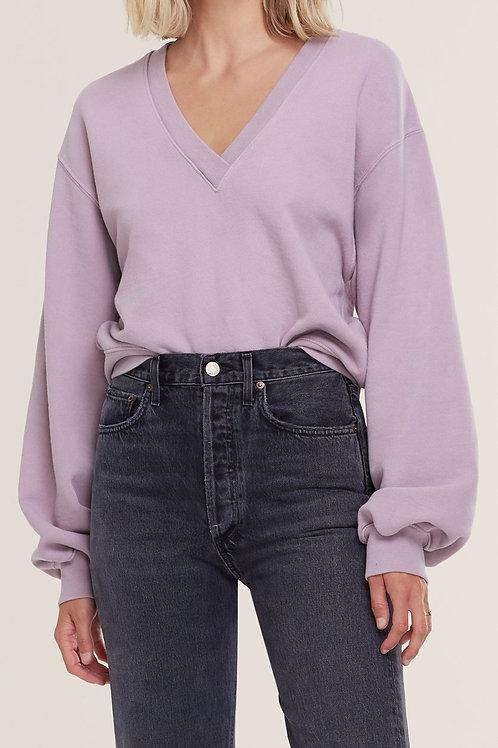 AGOLDE | V Neck Balloon Sleeve Sweatshirt
