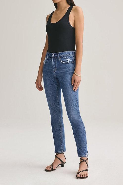 AGOLDE   Toni Mid Rise Slim Jean