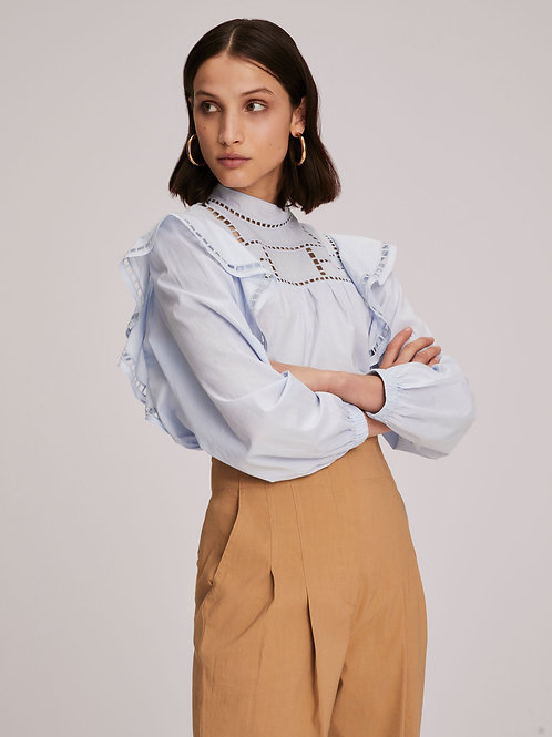 A.L.C.   Leanne Embroidered Cotton Top