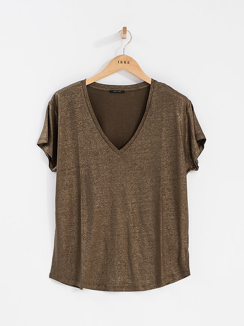 IKKS | Metallic Bronze T-Shirt