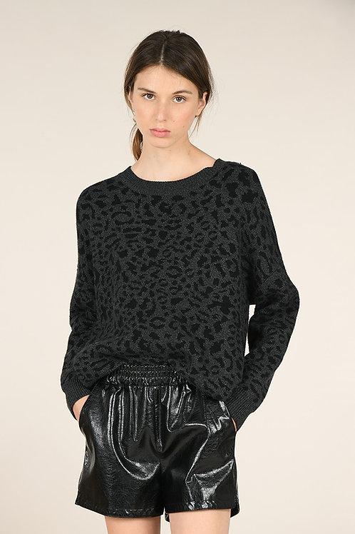 Molly Bracken   Leopard Print Sweater