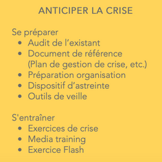 ANTICIPER LA CRISE