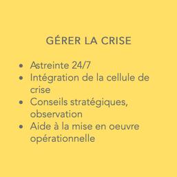 GERER LA CRISE