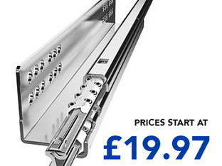 DID YOU KNOW WE STOCK HIGH QUALITY DRAWER RUNNERS AND KITCHEN HINGES AT GREAT PRICES?