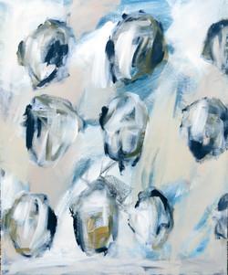 Malerei auf Leinwand. Thema Kopf. 2020