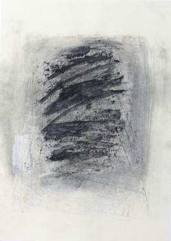 Kohle auf Papier. Aus der Serie Köpfe