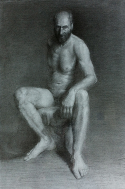 Academic Drawing of a Male