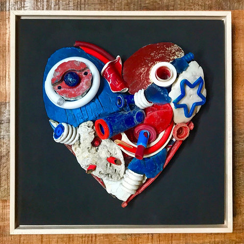 Red White and Blue Heart
