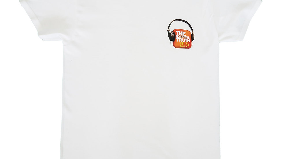 White Official Express Truth Show T-shirt