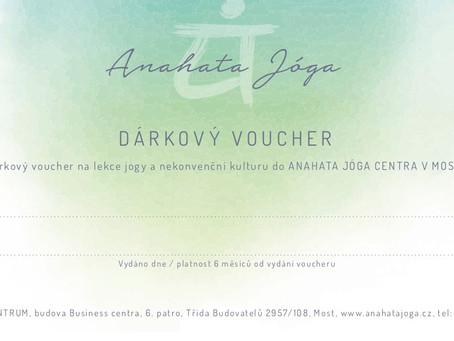 Tip na originálního Ježíška? Věnujte dárkový voucher do Anahaty.