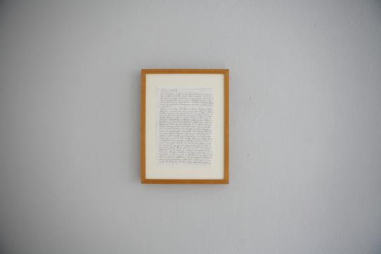 Lea Jazbec. A letter.  25 X 35 cm