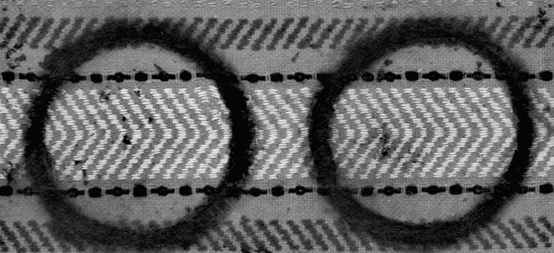 """Horizontal movement"", horse pad, mixed media, 70 X 90 cm"