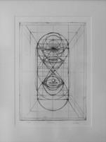 Lea Jazbec  Concept in drawing   Acquaforte 1/3 20 X 30 cm 2012