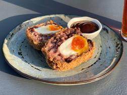 Pork and black pudding scotch egg