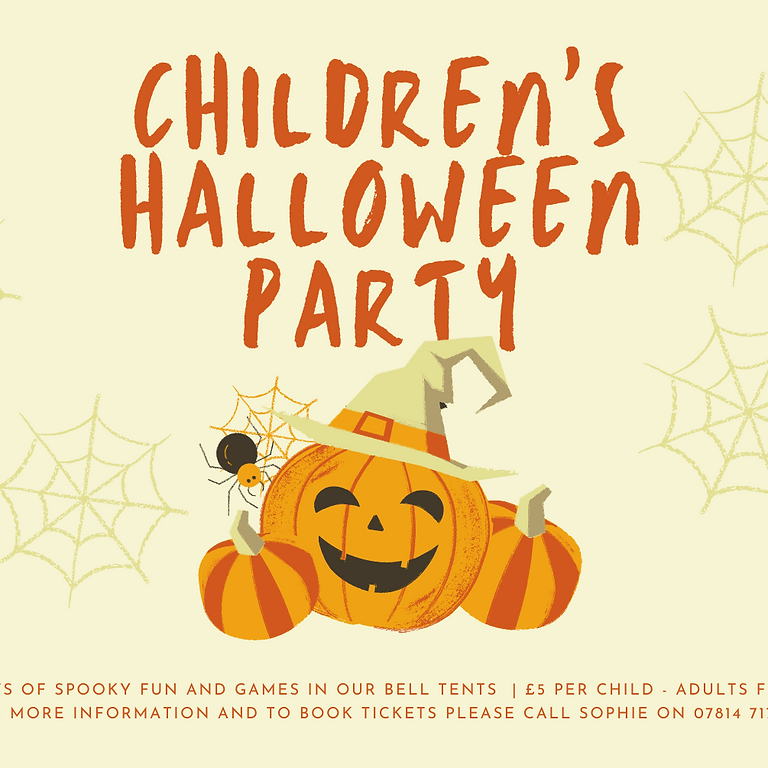 Children's Halloween Party by Sophies Teepees and Partees