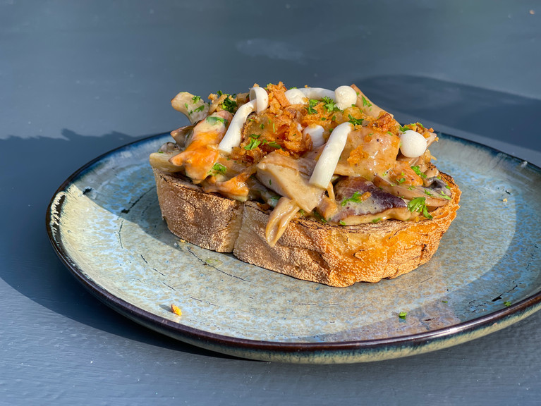 Sauteed foraged mushrooms