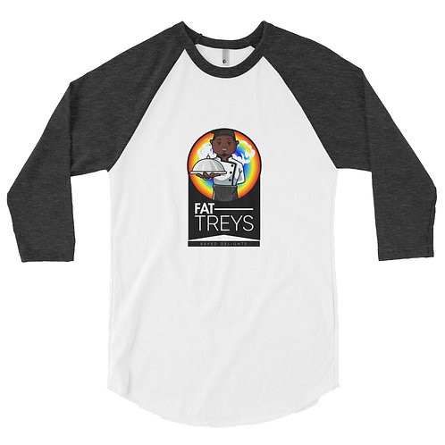Fat Trey's #2 Men's 3/4 sleeve raglan shirt