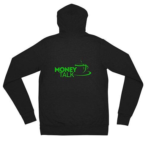 Money Talk Unisex zip hoodie