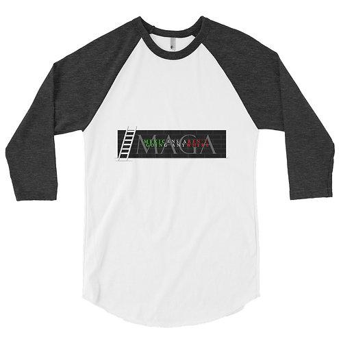 MAGA Men's 3/4 sleeve raglan shirt