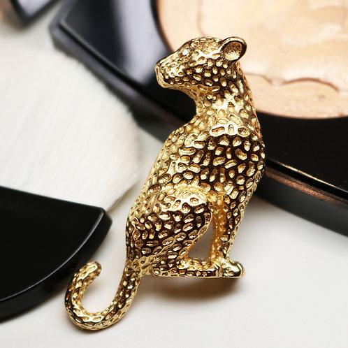 ⚜️ Vintage CHRISTIAN DIOR© Gold Leopard Brooch *signed*