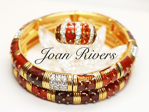 DECADENT AUTUMN BRACELETS & COCKTAIL RING by Joan Rivers ~ Austrian Crystals