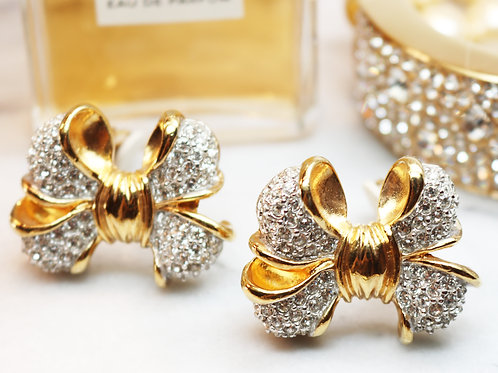⚜️ Dazzling Vintage GIVENCHY Crystal Clip-on Earrings