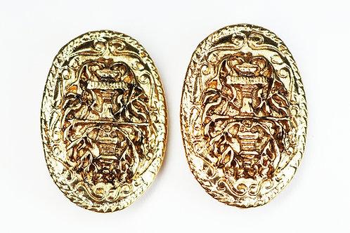 VINTAGE Erwin Pearl Earrings ~ Heirloom Etruscan Revival