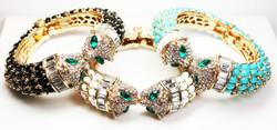Crystal Panther Bracelets