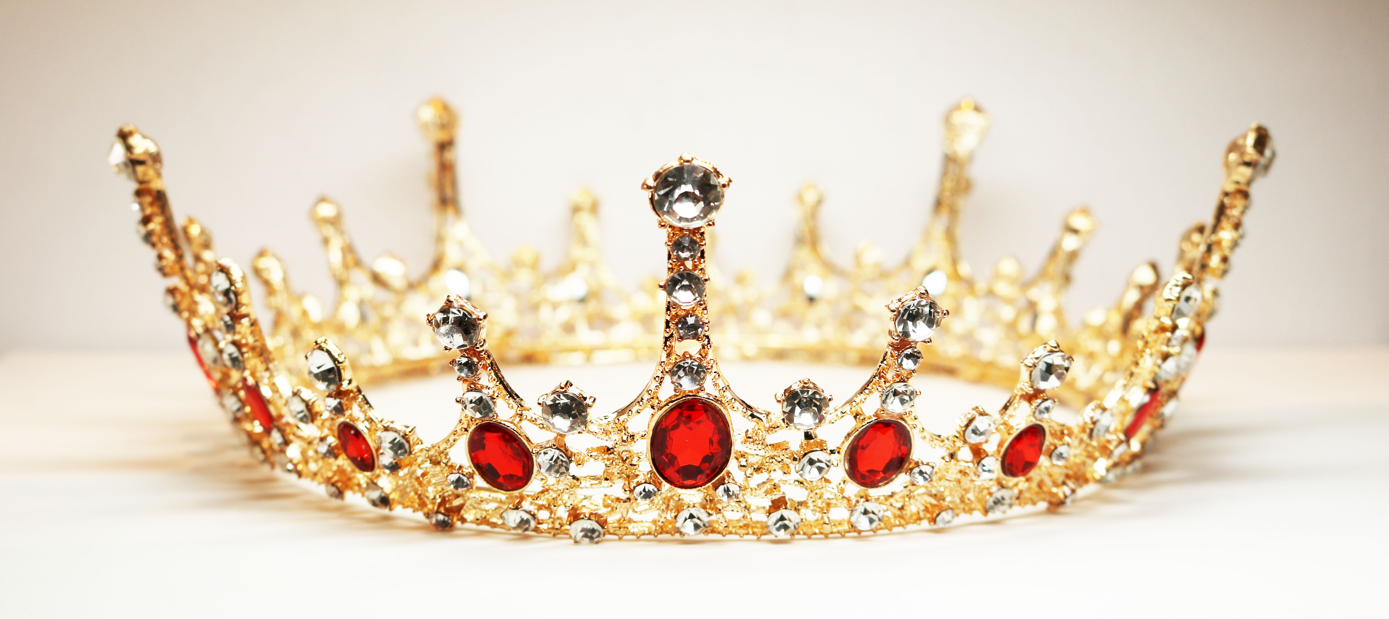 Gold & Red Crystal Crown