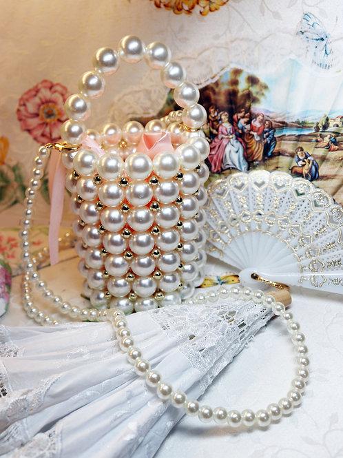 Pearl Bucket Mini Tote Haute Couture Handbag