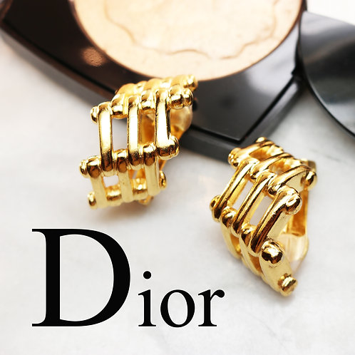 ⚜️ Vintage CHRISTIAN DIOR© Gold Plated Statement Earrings