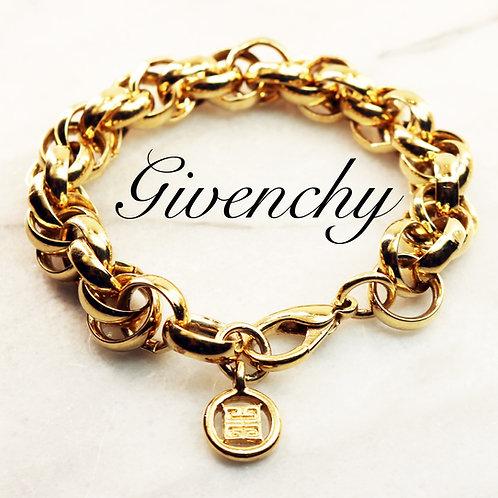 ⚜️ Vintage GIVENCHY Gold Logo Bracelet