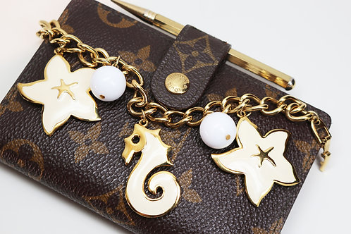 Nautical Napier Bracelet ~ Gold Plated Seahorse and Starfish Charms