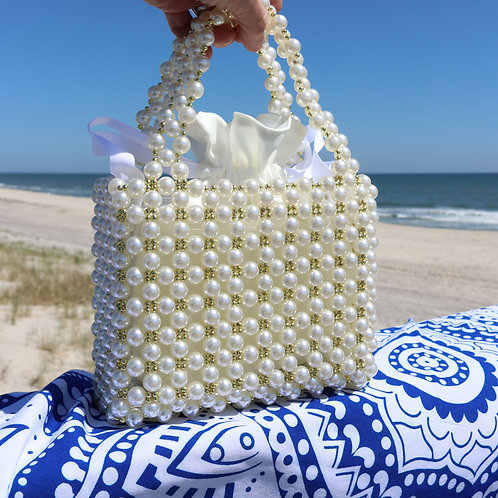 NEW! Exquisite Parisian Pearl Beaded Tote Handbags