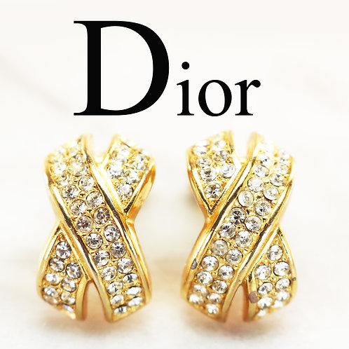 ⚜️ Vintage CHRISTIAN DIOR© Vintage Crystal Earrings