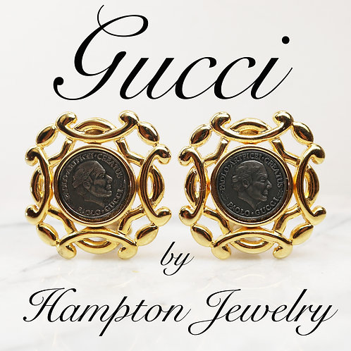 ⚜️ Vintage PAOLO GUCCI Medallion Earrings